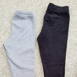 Two pair warm girls sweatpants, size Large